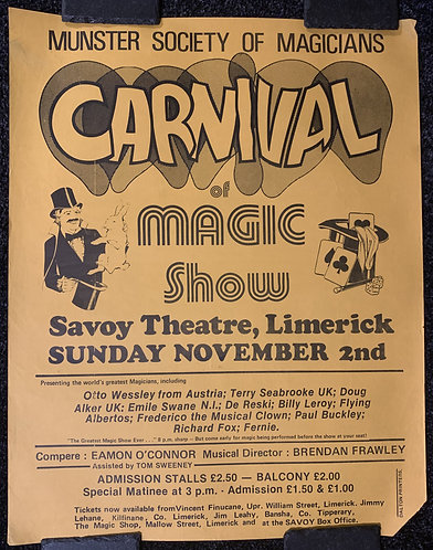 Carnival of Magic Show Poster