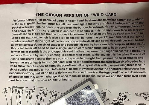 Wild Cards Packet Trick (Bicycle) by Eddie Gibson
