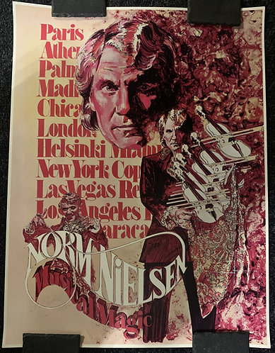 Norm Nielsen - SIGNED Musical Magic Poster