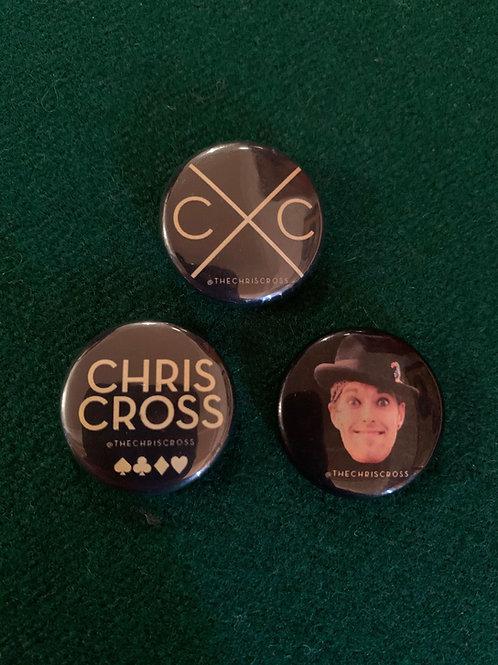 Chris Cross Badges (Set of 3)