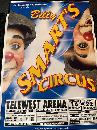 Billy Smart's Circus Touring Poster