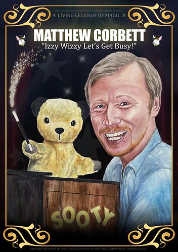 MATTHEW CORBETT with Sooty - Living Legends of Magic Poster Print