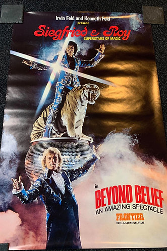 Siegfried & Roy - Large Original 1982 Poster for BEYOND BELIEF in Las Vegas