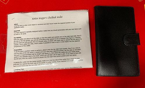Checkbook Wallet by Kenton Knepper