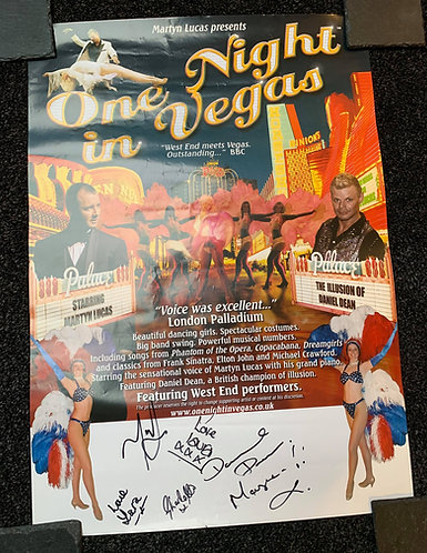 Daniel Dean - One Night in Vegas Show Poster SIGNED
