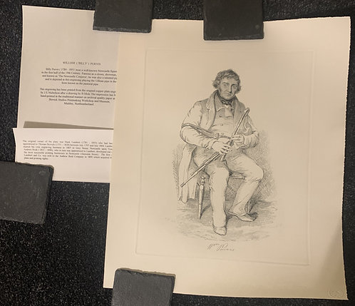 """William Purvis """"The Newcastle Conjuror"""" Engraving Print"""