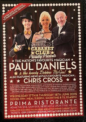 PAUL DANIELS / CHRIS CROSS SIGNED Poster, 2015