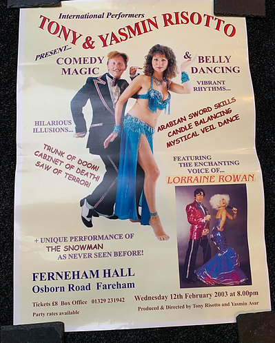 Tony & Yasmin Risotto - Evening Variety Show Poster