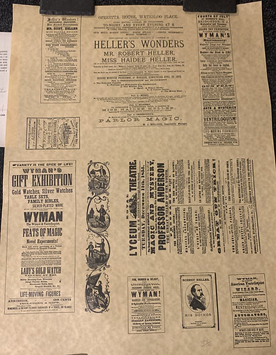 """Heller's Wonders """"The Wonderful Wizards Remembered"""" Poster Print"""
