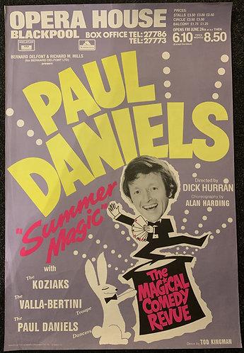 Paul Daniels Summer Magic Show Poster