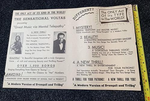 The Sensational Voltas - A4 Promo Original