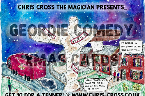 """""""Angel of the North - She's a Big Lass!"""" Chriscrossmas Card (PACK OF 10)"""