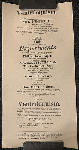 Mr. Potter Ventriloquism Poster Print