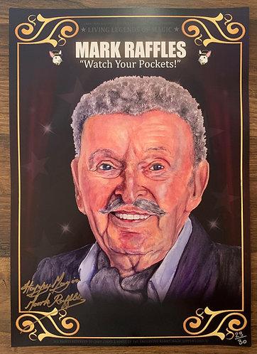 MARK RAFFLES - SIGNED Living Legends of Magic Poster Print