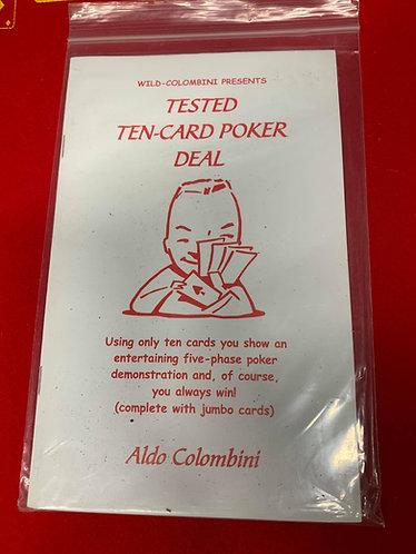 Tested Ten Card Poker Deal by Aldo Colombini