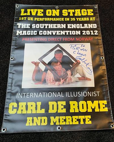 Carl De Rome & Merete - Canvas Banner Promo Poster
