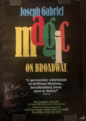 Joseph Gabriel SIGNED Magic on Broadway Poster