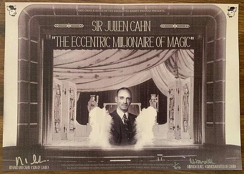 Sir Julien Cahn - SIGNED Eccentric Millionaire of Magic Poster Print