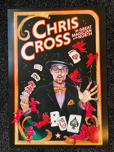 CHRIS CROSS: The Great Magician of the North (A3 Poster Print)