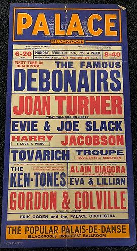 Blackpool Palace - Feb 1953 Playbill Poster