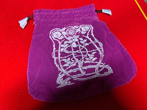 Purple Velvet Bag - Large
