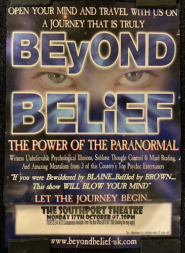 Beyond Belief Paranormal Theatre Show Poster