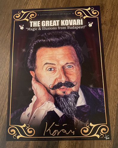 THE GREAT KOVARI - SIGNED Living Legends of Magic Poster Print