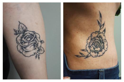talons aiguilles tattoo piercing rose gu