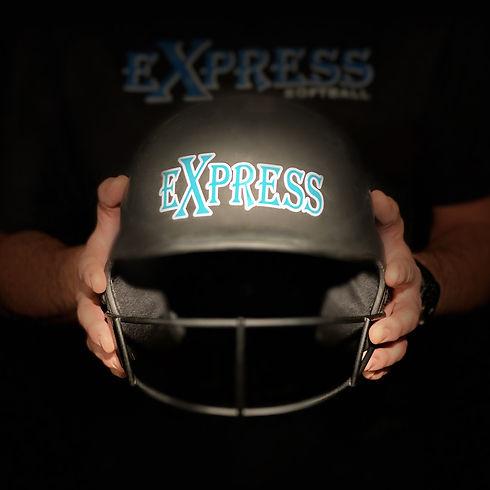 express softball helmet