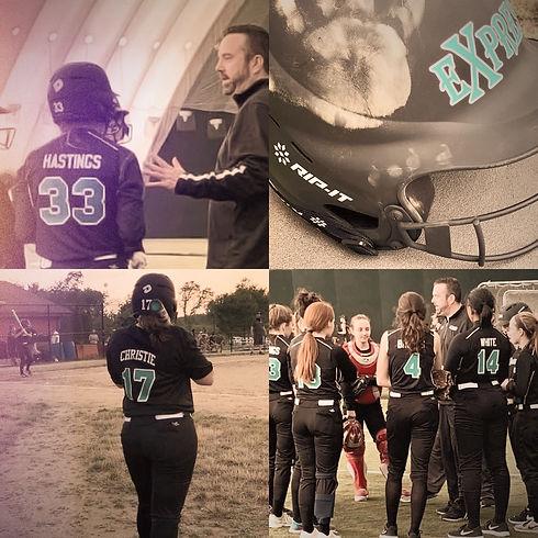 express softball 18u black