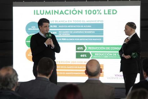 Jorge Macri y el ministro Bergman anunciaron el Plan de Iluminación LED en Vicente López