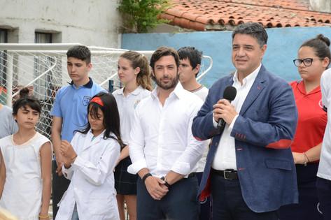 Jorge Macri brindará contención a las familias que mandan a sus hijos a escuelas del municipio
