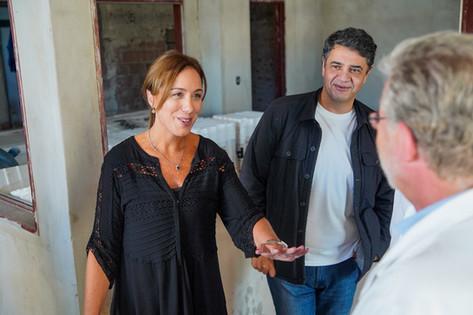 La gobernadora Vidal visitó junto a Jorge Macri el Hospital Cetrángolo de Vicente López