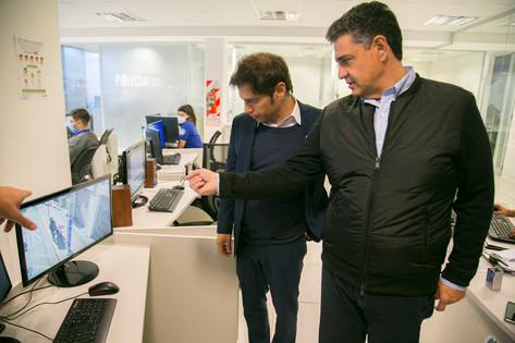 Jorge Macri recibió al gobernador Kicillof y al ministro Berni para articular acciones de prevención