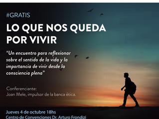"""Conferencia - 04/10 - """"Lo que nos queda por vivir"""" #CuposLimitados"""