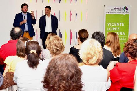"""Jorge Macri y Pablo Avelluto presentaron el """"Ciclo de Formación en Gestión Cultural"""" en Vicente Lópe"""