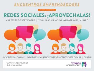 27/09 ►TERCER #EncuentroEmprendedor ► REDES SOCIALES: ¡APROVECHALAS!