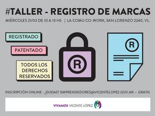 #Taller - REGISTRO DE MARCAS
