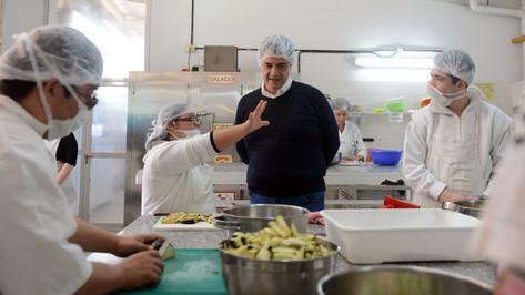Jorge Macri recorrió las obras en el Centro Educativo de Formación Laboral