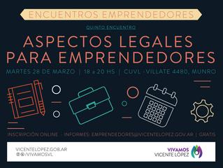 28/03 | Aspectos legales para emprendedores
