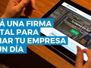 Creá una firma digital para armar tu empresa en un día en Club de Emprendedores VL