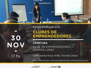 30/11 - Inauguramos el CLUB DE EMPRENDEDORES VL