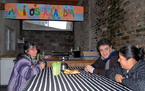 Jorge Macri visitó el merendero 'Manitos a la obra' en San Fernando