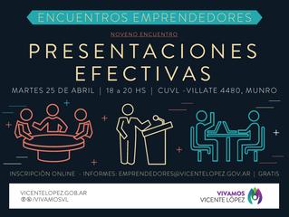 25/04   Presentaciones efectivas #EncuentroEmprendedor