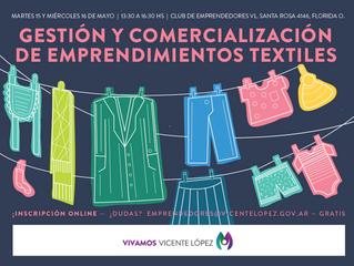 15 y 16/05 - Gestión y Comercialización de Emprendimientos Textiles