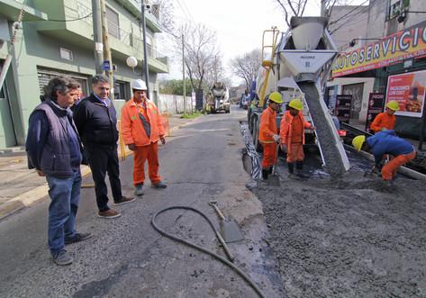 Plan de asfalto y hormigón