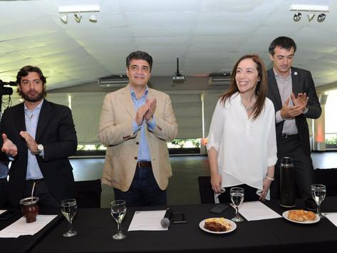 María Eugenia Vidal y Jorge Macri encabezaron el Consejo Directivo Provincial del Pro