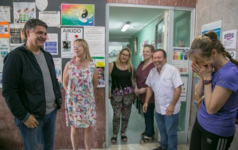 Jorge Macri recorrió la obra que se lleva adelante en la Sociedad de Fomento de La Lucila