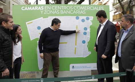 Jorge Macri y Eugenio Burzaco presentaron el proyecto de seguridad para centros comerciales y zonas
