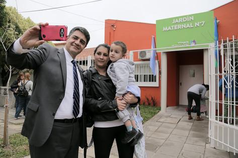 Jorge Macri recorrió el fin de obra en el Jardín Maternal Nº 7 de Carapachay
